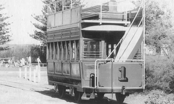 The finished replica of Tram No. 1 on the big day.